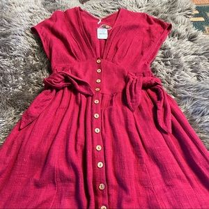 NWT Free People Linen Dress